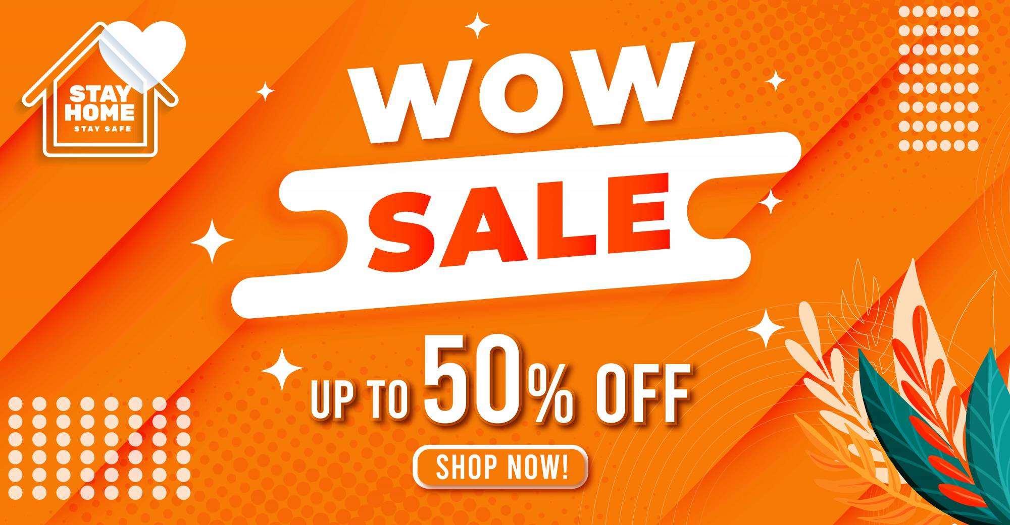 wow sale 50% off