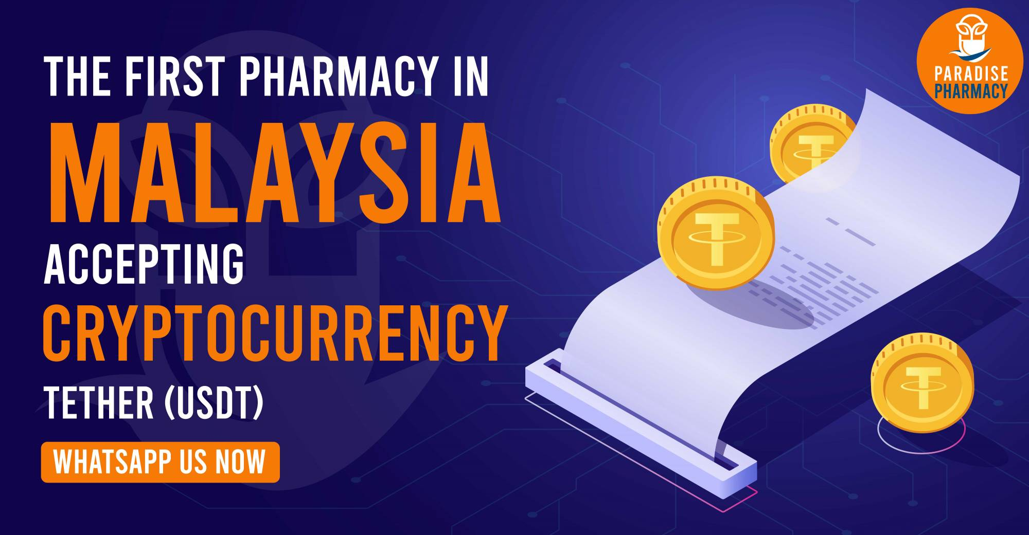 THE FIRST PHARMACY IN MALAYSIA ACCEPTING CRYPTOCURRENCY